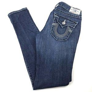 True Religion Women's Flap Pockets Skinny Jeans